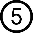 nmero-cinco-no-boto-circular_318-72384